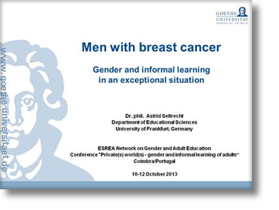 Men with breast cancer - Gender and informal learning in an exceptional situation